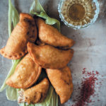 Coriander and lime chicken empanadas