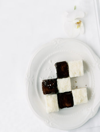 Chessboard tea cakes recipe