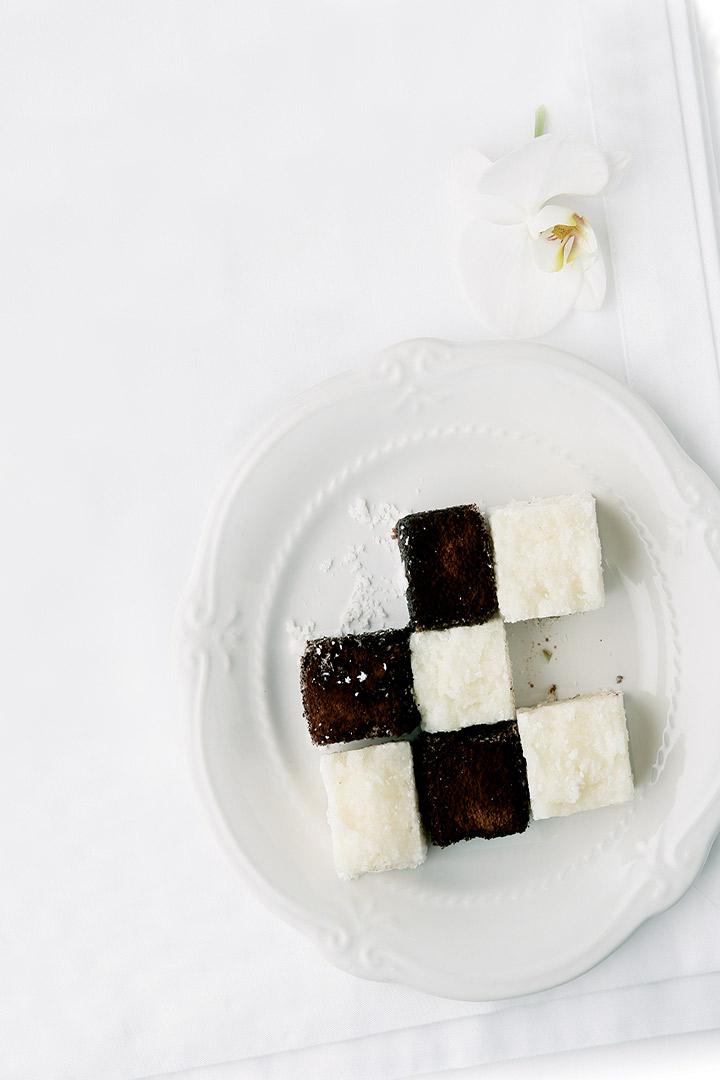 Chessboard tea cakes recipe