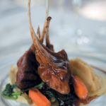Liquorice lamb with roasted carrots, vanilla parsnip mash, wilted spinach, potato cream and carrot jus