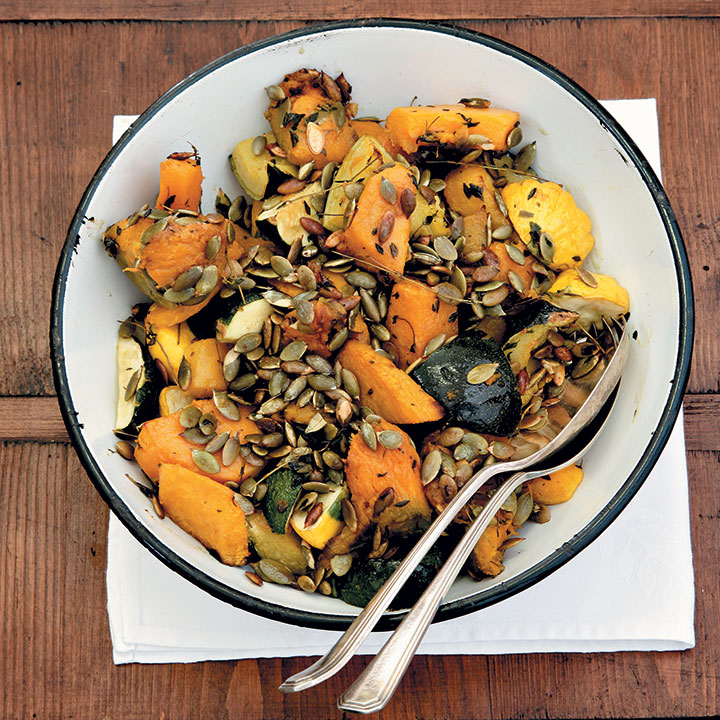 Roasted winter squash with pumpkin seeds and thyme | Food ...