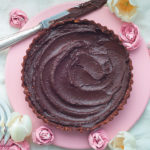 Guilt-free rich dark chocolate and nut tart
