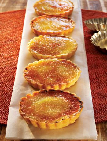 Caramelised limoncello tarts recipe