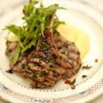 Grilled lamb chops with soft cheesy polenta