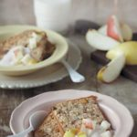 Pear, dark chocolate and cranberry baked oatmeal