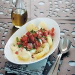 Potato, crème fraîche and bacon salad