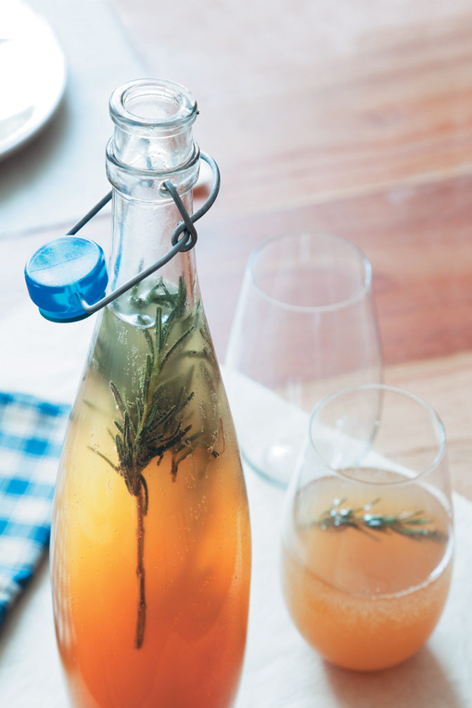 Rosemary-scented ginger ale recipe