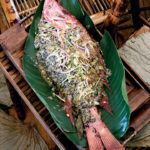 Steamed red snapper with miso