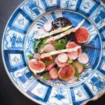 Beetroot, fig and radish salad