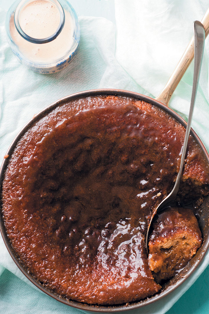 Amarula malva pudding with Rooibos custard