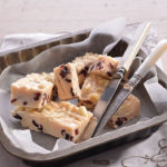American-style white chocolate and cranberry fudge