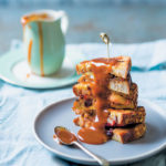 Apple and butterscotch French-toast sandwiches