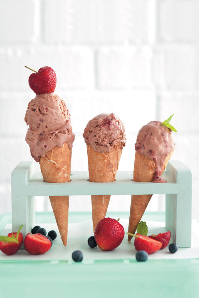 Berry choc-chunk ice cream recipe