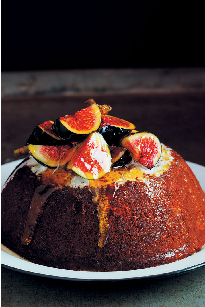 Boozy fig and honey pudding recipe