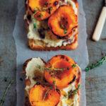 Brioche with thyme-roasted peaches and vanilla mascarpone