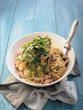 Chicken, coriander and lemon spaghetti recipe