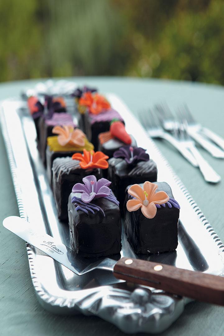 Chocolate petits fours recipe