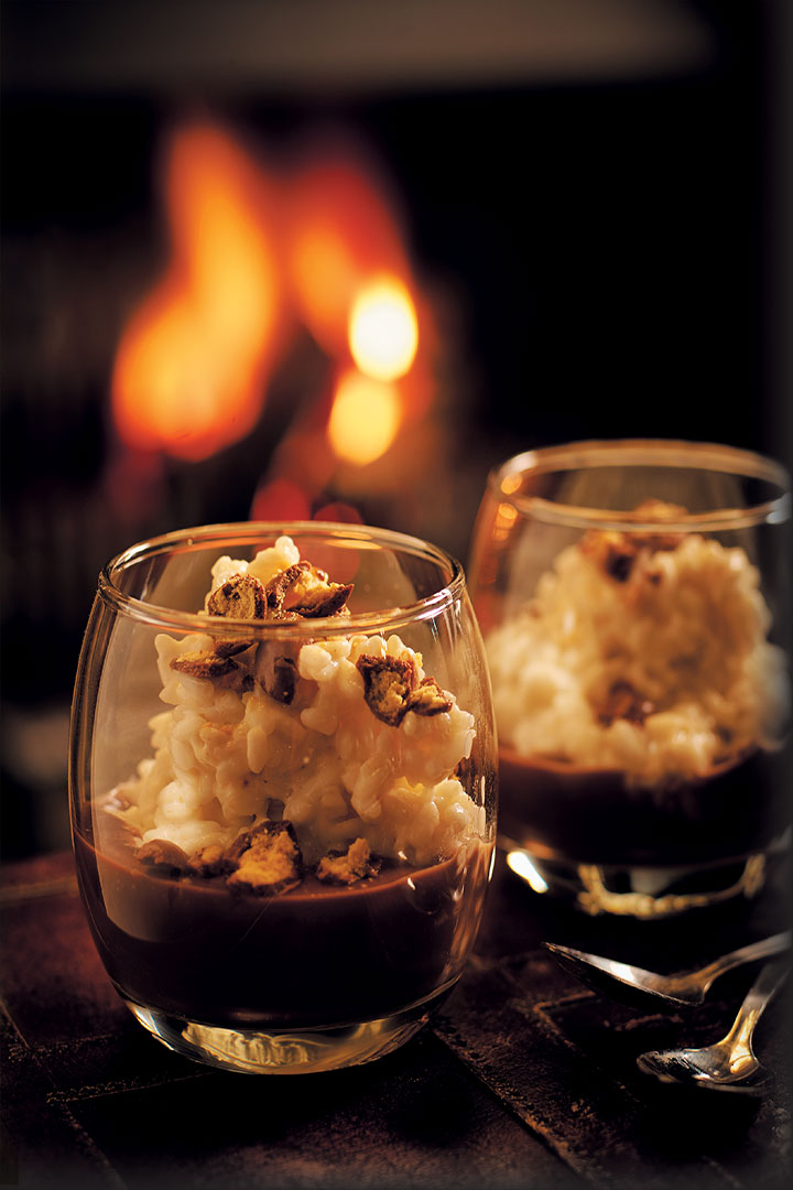 Creamy risotto pudding with hot chocolate sauce recipe - F ...