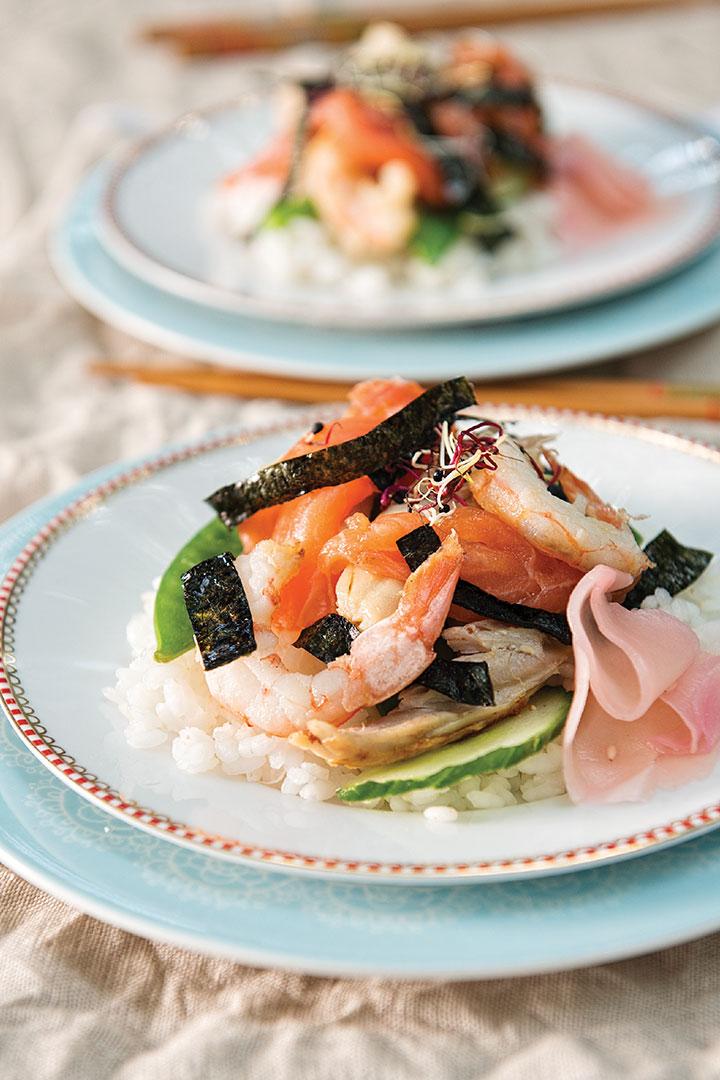 Deconstructed sushi recipe