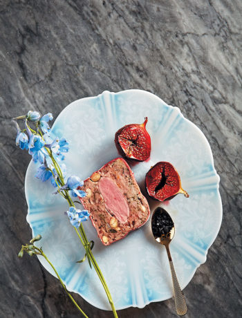 Duck and almond terrine with roasted figs recipe