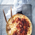 Fennel bulb, bacon and mature cheddar bake