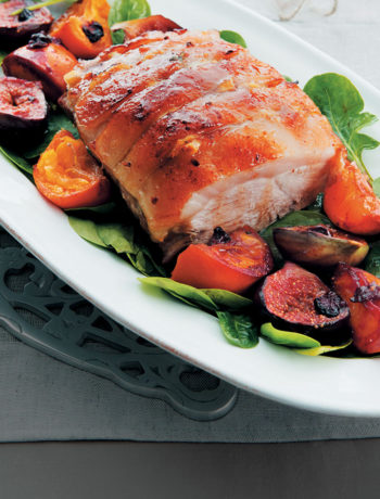 Festive roast pork recipe