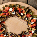 Festive salad wreath
