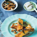 French-toast batons with wild mushroom and sage butter