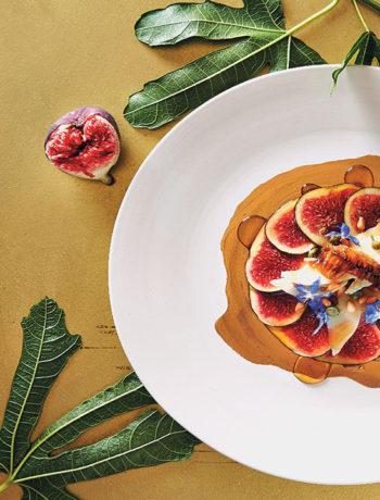 Fresh fig carpaccio with honeyed vinegar recipe