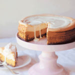 Hubbard squash and white-chocolate cheesecake