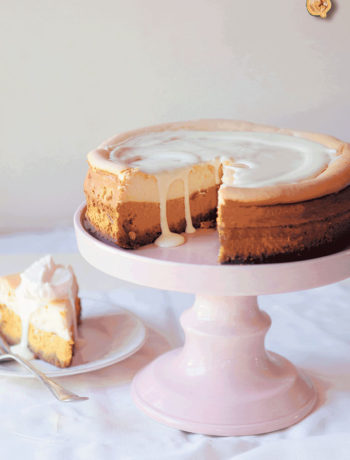 Hubbard squash and white-chocolate cheesecake recipe