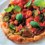 Heirloom tomato tarte Tatin