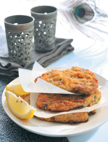 Herb and Parmesan crusted pork schnitzel recipe