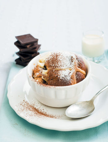 Hot cross bread and butter chocolate puddings recipe
