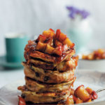 Hot cross bun French toast with apple compote
