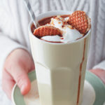 Kahlua and chocolate shake with stroopwafels