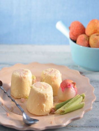 Litchi, lemon grass and ginger ice cream recipe