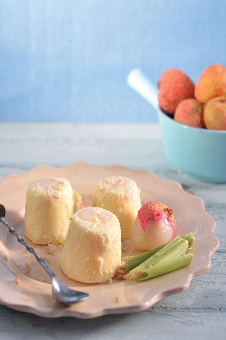 Litchi, lemon grass and ginger ice cream recipe