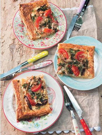 Mackerel, tomato and mustard tart recipe