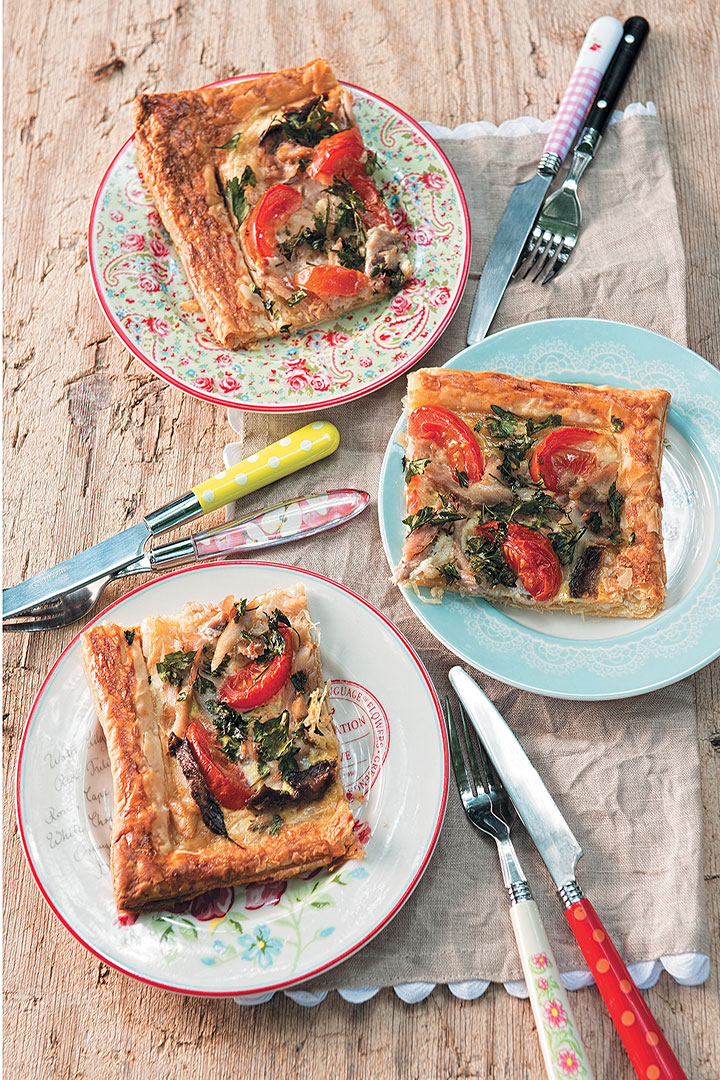 Mackerel, tomato and mustard tart recipe