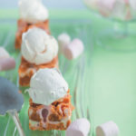 Marshmallow fudge topped with French meringue
