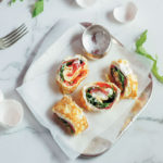 Omelette roll with smoked salmon