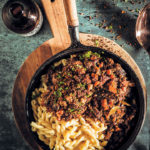 Oxtail ragù with witbier and horseradish crumbs