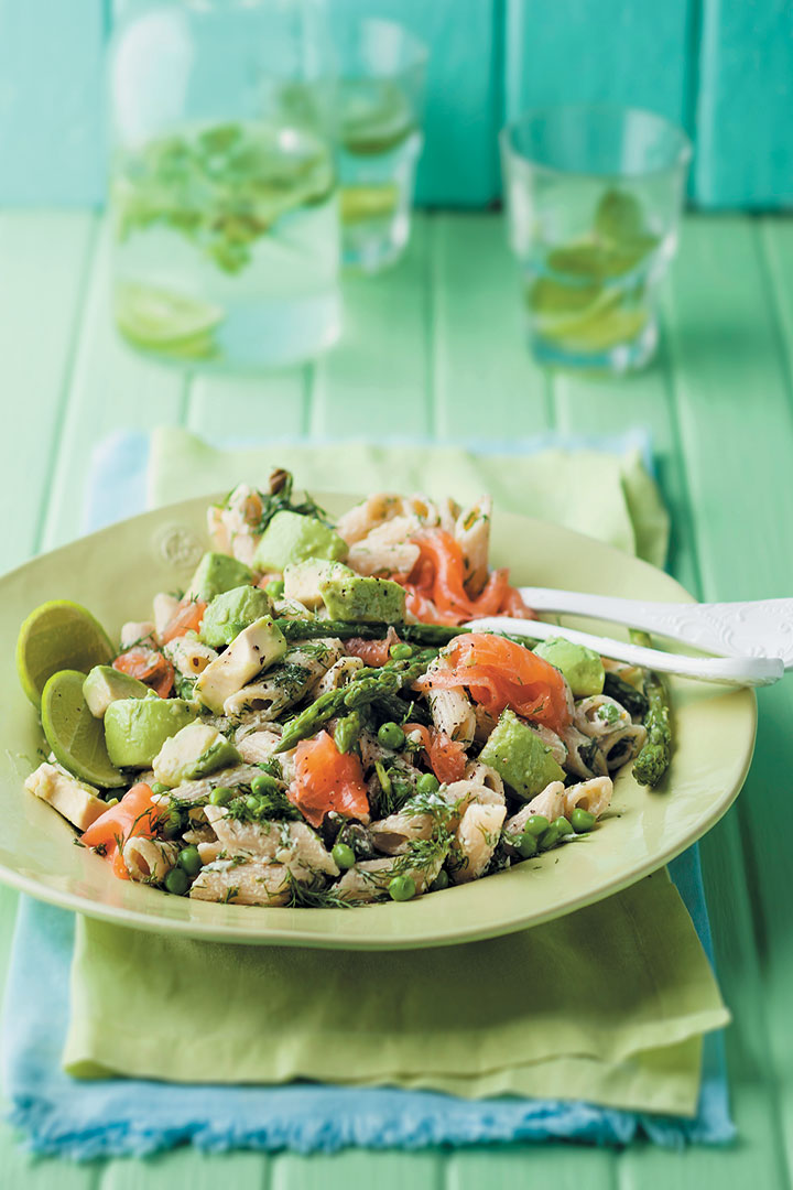 Pasta salad with salmon and avocado recipe - F&HE Magazine