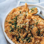 Pasta with herb, Parmesan, anchovy and garlic butter