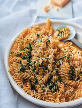 Pasta with herb, Parmesan, anchovy and garlic butter recipe
