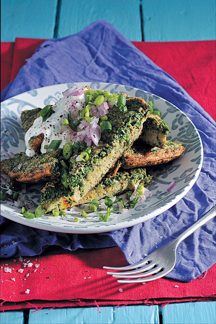 Persian herb omelette (kuku sabzi) recipe
