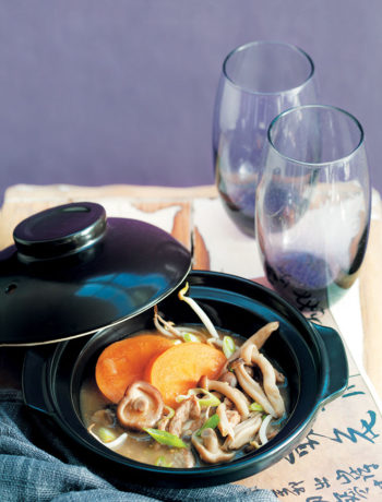 Persimmon and pork hot and sour soup recipe