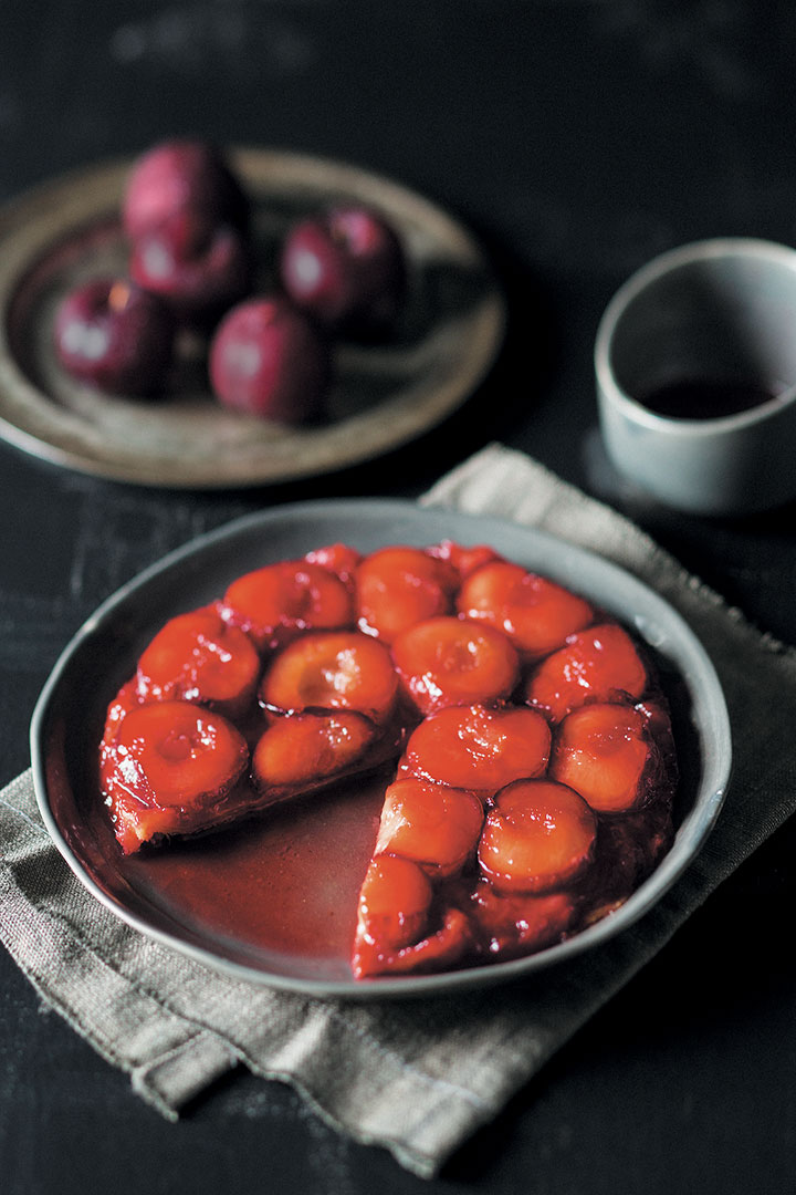 Plum tarte Tatin recipe