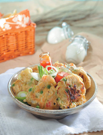 Prawn and corn fritters recipe